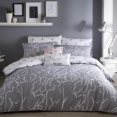Muse Duvet Cover Set - Grey