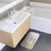 Beautiful Soft Microfibre Bath Mat - Natural