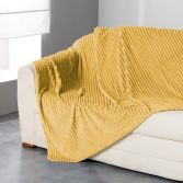 Zeline Flannel Jacquard Throw - Yellow