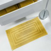 Vitamine Plain 100% Cotton Bath Mat - Honey Yellow