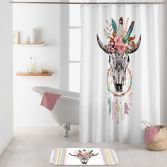 Buffle Spirit Shower Curtain with Hooks - Multi