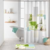 Nature Douceur Shower Curtain with Hooks - Multi