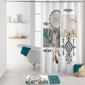 Ottawa Shower Curtain with Hooks - Multi