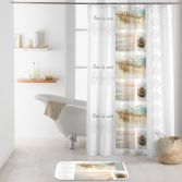 Palavas Shower Curtain with Hooks - Cream