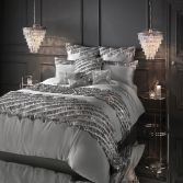 Kylie Minogue Eliza Sequin Tassel Square Pillowcase - Pewter Grey
