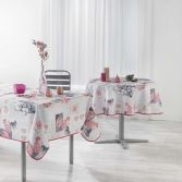 Orchisea Floral Photoprint Tablecloth - Pink & Grey