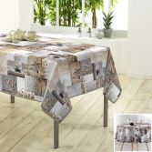Etoile Givree Christmas Photoprint Tablecloth - Natural & Grey