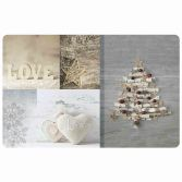 Etoile Givree Christmas Photoprint Tablemat - Natural & Grey