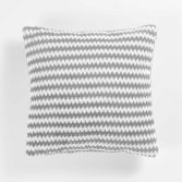 Denver Flannel Jacquard Cushion - Silver Grey