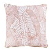 Gatsby 100% Cotton Cushion Cover with Metallic Print - Gold Pink