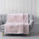 Marilou Faux Fur Throw Blanket - Pink