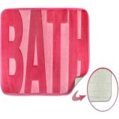 Spa Memory Foam Bath Mat - Pink