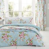 Catherine Lansfield Canterbury Floral Reversible Duvet Cover Set - Blue/Multi