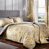 Maduri Ornamental Paisley Duvet Cover Set - Ochre Yellow