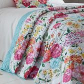 Catherine Lansfield Salisbury Floral Quilted Bedspread - Multi