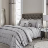 Catherine Lansfield Sequin Cluster Duvet Cover Set - Silver Grey