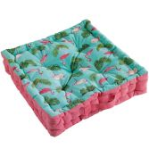Zootica Flamingo 100% Cotton Floor Chair Booster Cushion - Multi