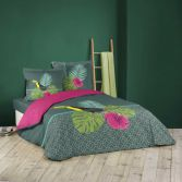 Domingo Toucan Floral Duvet Cover Set - Charcoal Grey Multi