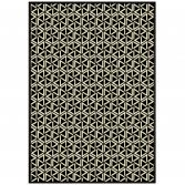 Viscose Woven Checked Rug - Black
