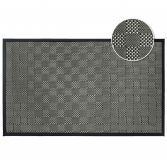 Simeo Woven Checked Rug - Black