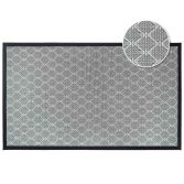 Triano Woven Geometric Rug - Grey Black