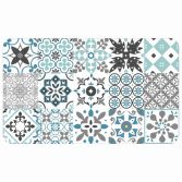 Salou Printed Eva Kitchen Foam Mat - Blue