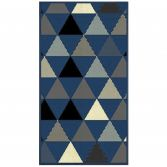 Twini Woven Rectangular Geometric Rug - Blue