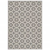 Cemento Woven Geometric Rug - Natural