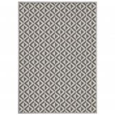 Trinity Woven Striped Geometric Rug - Natural