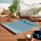 Osaya Geometric Indoor Outdoor Rug - Blue