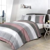 Betley Stripe Duvet Cover Set - Blush Pink