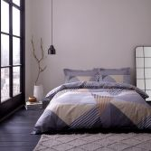 Bianca Jazz Striped 100% Cotton Duvet Cover Set - Multi