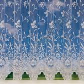Butterfly Design White Net Curtain - 3906