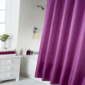 Plain Shower Curtain Purple