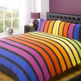 Soho Multi-Colour Striped Duvet Cover Set