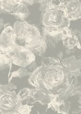 Echo Machine Woven Floral Rug - Dark Grey 07