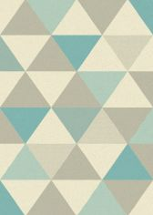 Focus Machine Woven Geometric Rug - Blue Grey Multi 02