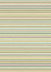 Focus Machine Woven Stripe Rug - Green Pink Multi 04
