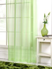 Lime Green Slot Top Voile Curtain Panel