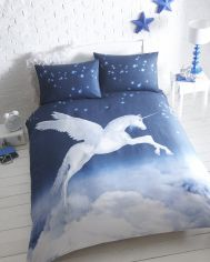 Unicorn Flannelette Thermal Duvet Cover Set