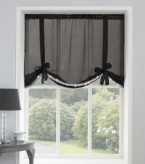 Ibiza Diamante Voile Tie Blind - Black