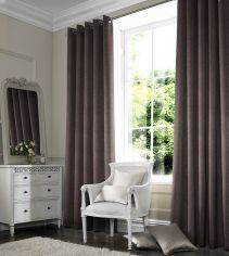 Melanie Chocolate Natural Made to Measure Curtains