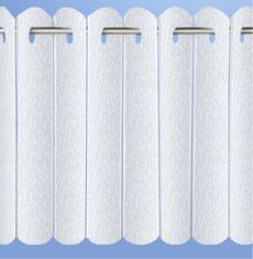 Rhodes Plain Net Vertical Pleated Blind - White