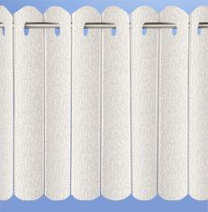 Rhodes Plain Net Vertical Pleated Blind - Cream