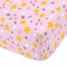 Catherine Lansfield Kids Super Bunny Fitted Sheet - Pink