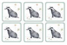 Wrendale Table Coaster Set of Eight - Badger