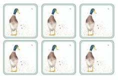 Wrendale Table Coaster Set of Eight - Duck