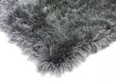 Eva Table Tufted Plain Rug - Mist Charcoal Grey