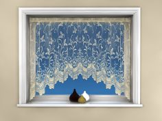 Butterfly Design Cream Jardiniere Net Curtain