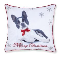 Merry Christmas Frenchie Cushion Cover